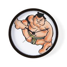 Sumo Wrestler Wall Clock