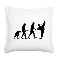 Kung Fu Evolution Square Canvas Pillow
