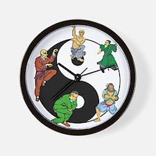 Yin Yang Kung Fu Wall Clock