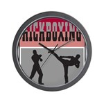Kick boxing Wall Clock