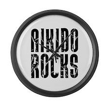 Aikido Rocks Large Wall Clock