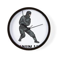 I Love Ninjas Wall Clock