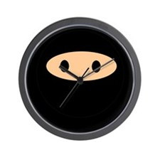 Cute Ninja Face Wall Clock