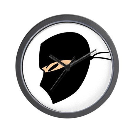 Ninja Face Wall Clock
