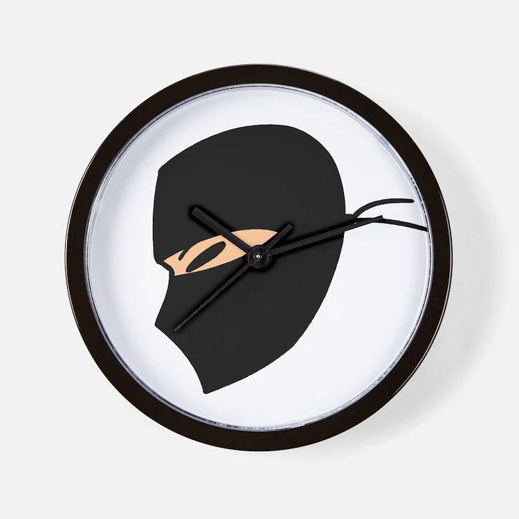 Ninja Face Wall Clock