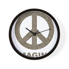 Vintage Imagine Peace Wall Clock