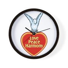 Love Peace Harmony Wall Clock