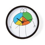 Peace Cartoon Wall Clock