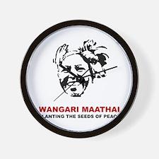 Wangari Maathai Wall Clock