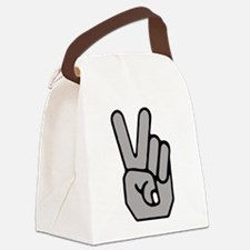 Peace Hand Symbol Canvas Lunch Bag
