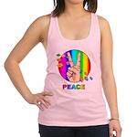 Colorful Peace Symbol Racerback Tank Top