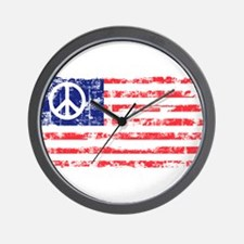 Vintage Peace In America Wall Clock