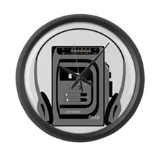 Vintage Tape Player Large Wall Clock