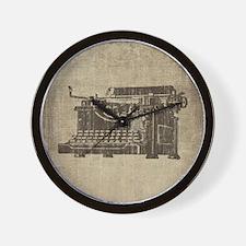 Vintage Typewriter Wall Clock