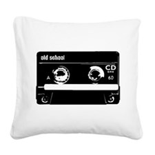 Old School Cassette Tape Square Canvas Pillow