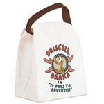 Retro Advertising Canvas Lunch Bag