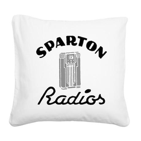 Sparton Radios Square Canvas Pillow