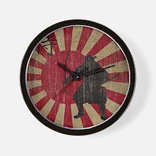 Vintage Samurai Wall Clock