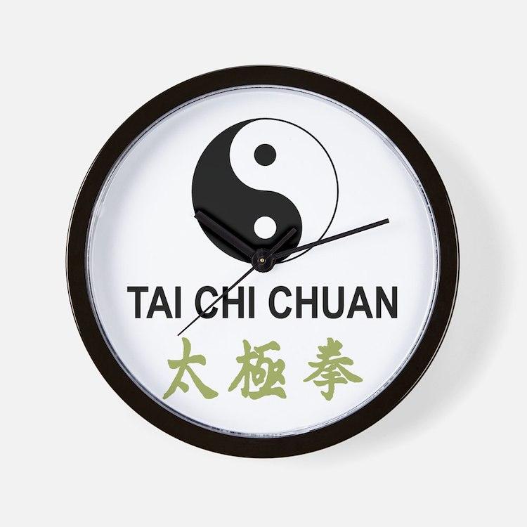Tai Chi Wall Clock