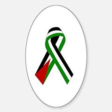 Palestinian Ribbon for Peace & Just Oval Decal
