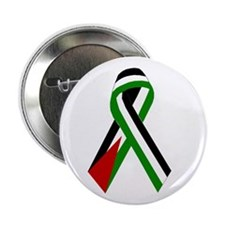 """Palestinian Ribbon for Peace 2.25"""" Button(10 pack)"""