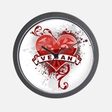 Heart Vegan Wall Clock