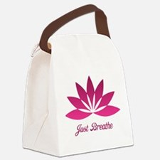 Lotus Just Breathe Canvas Lunch Bag