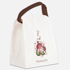 Yoga Lotus Namaste Canvas Lunch Bag