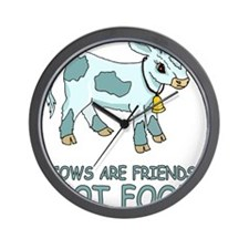 Cows Are Friends Wall Clock
