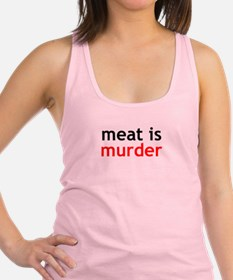 Meat Is Murder Racerback Tank Top