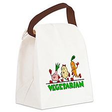 Vegetarian Canvas Lunch Bag