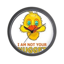 Cute I am not a nugget Wall Clock