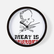 Vintage Meat Is Murder Wall Clock