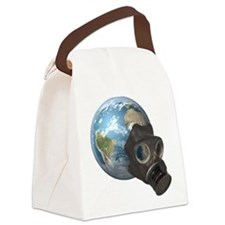 Gas Mask Earth Canvas Lunch Bag