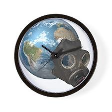Gas Mask Earth Wall Clock