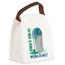 Save The Earth Canvas Lunch Bag