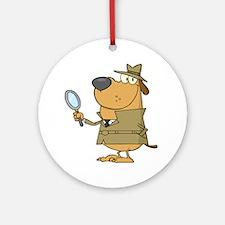 Detective Ornament (Round)