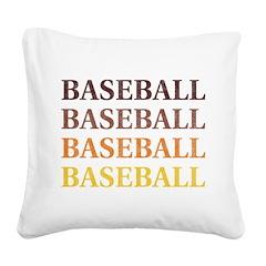 Vintage Baseball Square Canvas Pillow