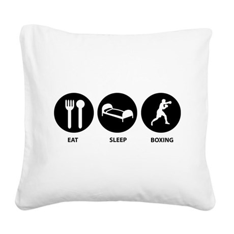 Eat Sleep Boxing Square Canvas Pillow