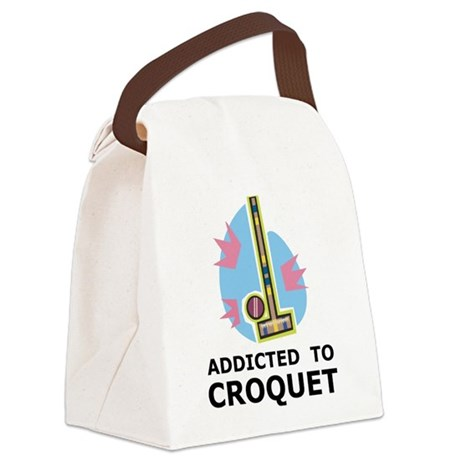 Addicted To Croquet Canvas Lunch Bag