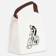 Retro Cyclist Canvas Lunch Bag