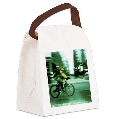 Urban Cyclist Canvas Lunch Bag