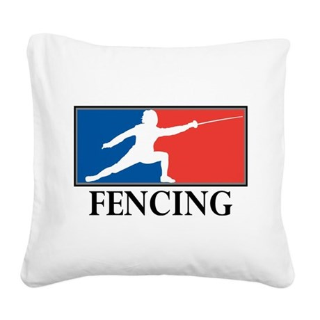 Fencing Square Canvas Pillow
