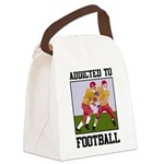 Addicted To Football Canvas Lunch Bag