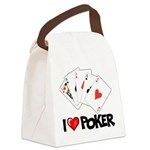 I Love Poker Canvas Lunch Bag
