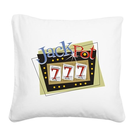 Jackpot 777 Square Canvas Pillow