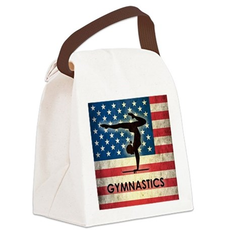Grunge USA Gymnastics Canvas Lunch Bag