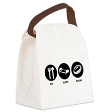 Eat Sleep Rugby Canvas Lunch Bag