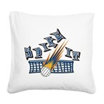 Spike It Square Canvas Pillow