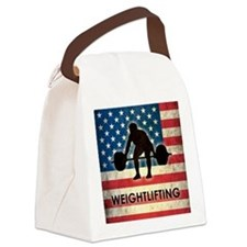 Grunge USA Weightlifting Canvas Lunch Bag